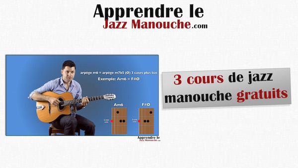 3 cours gratuits sur la guitare jazz manouche