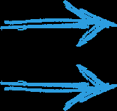 Flèche bleue droite