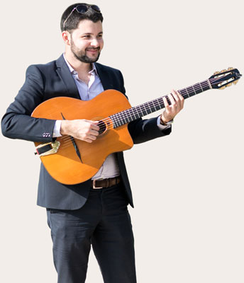 Clément Reboul guitariste de jazz manouche