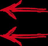 Fleche rouge gauche