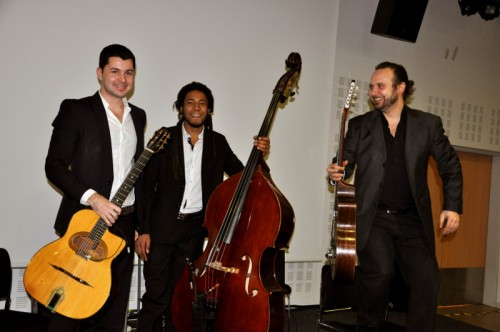 Trio jazz swing guitare et contrebasse
